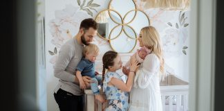 Carly Zucker with Jason Zucker and family
