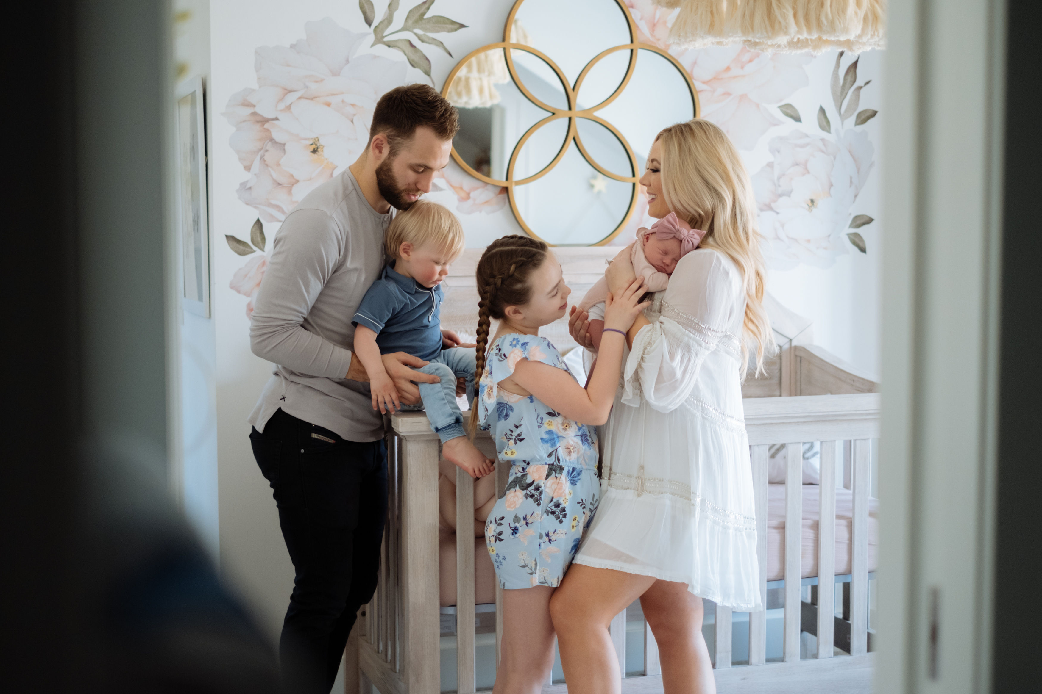 Carly Zucker with Jason Zucker and family