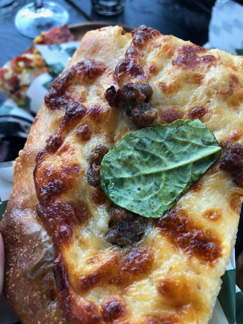 Sausage Pizza al Taglio