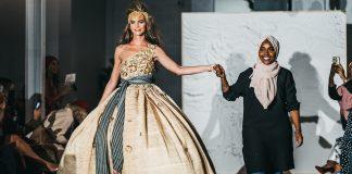 Model Hannah Peltier brings out designer Ramadhan Mohamed