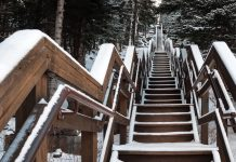 Where in Minnesota are these snow-covered stairs?