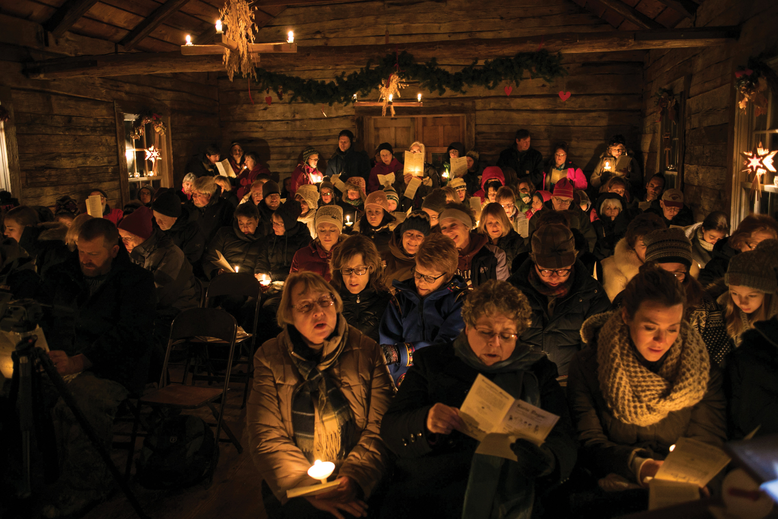 The Christmas service at Gammelgården Museum puts pageantry into the Scandinavian history of the Chisago Lakes area