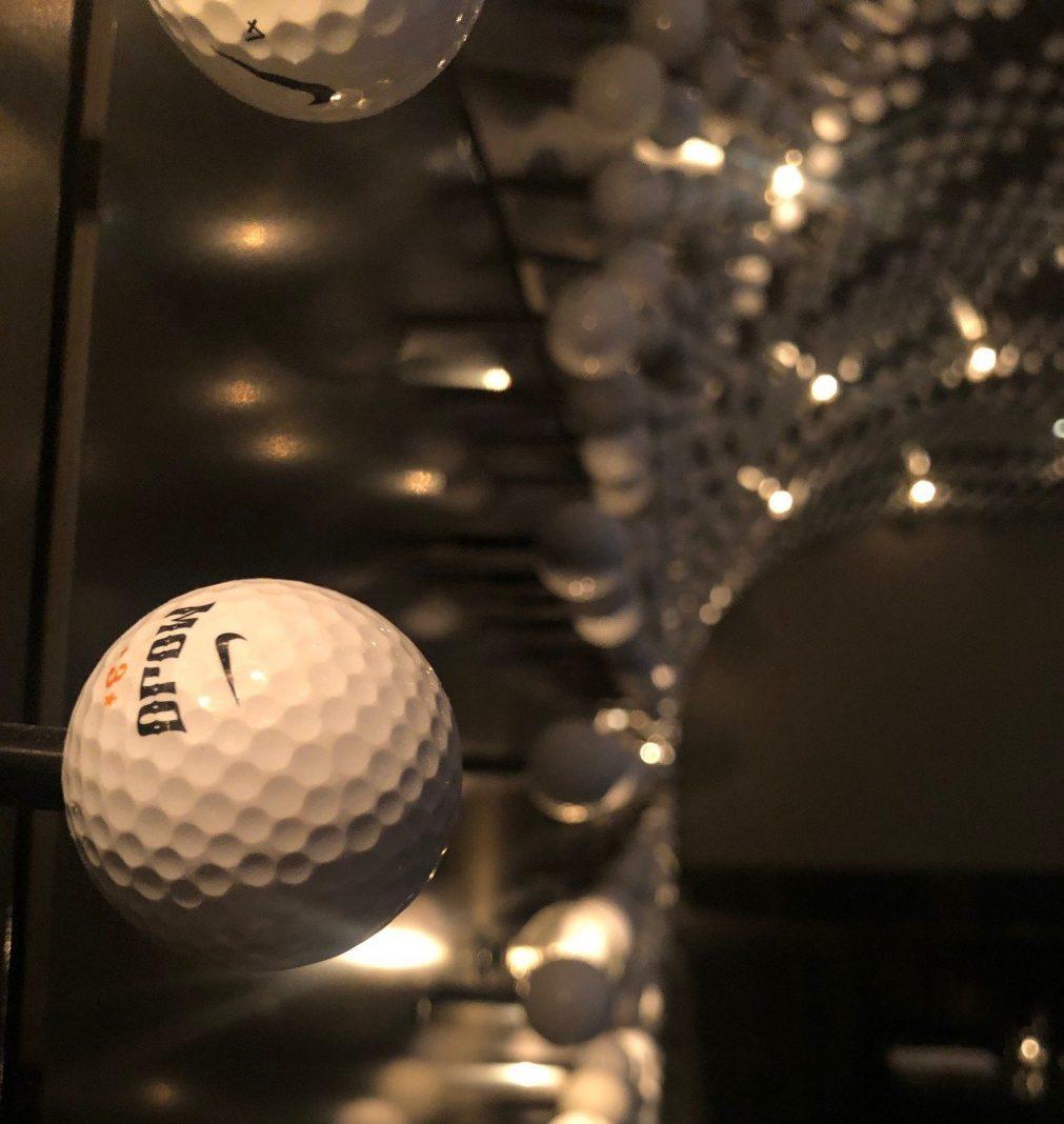 A wall of so, so many golf balls