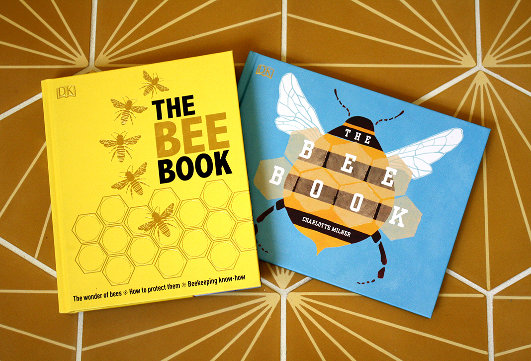A picture of two books about bees