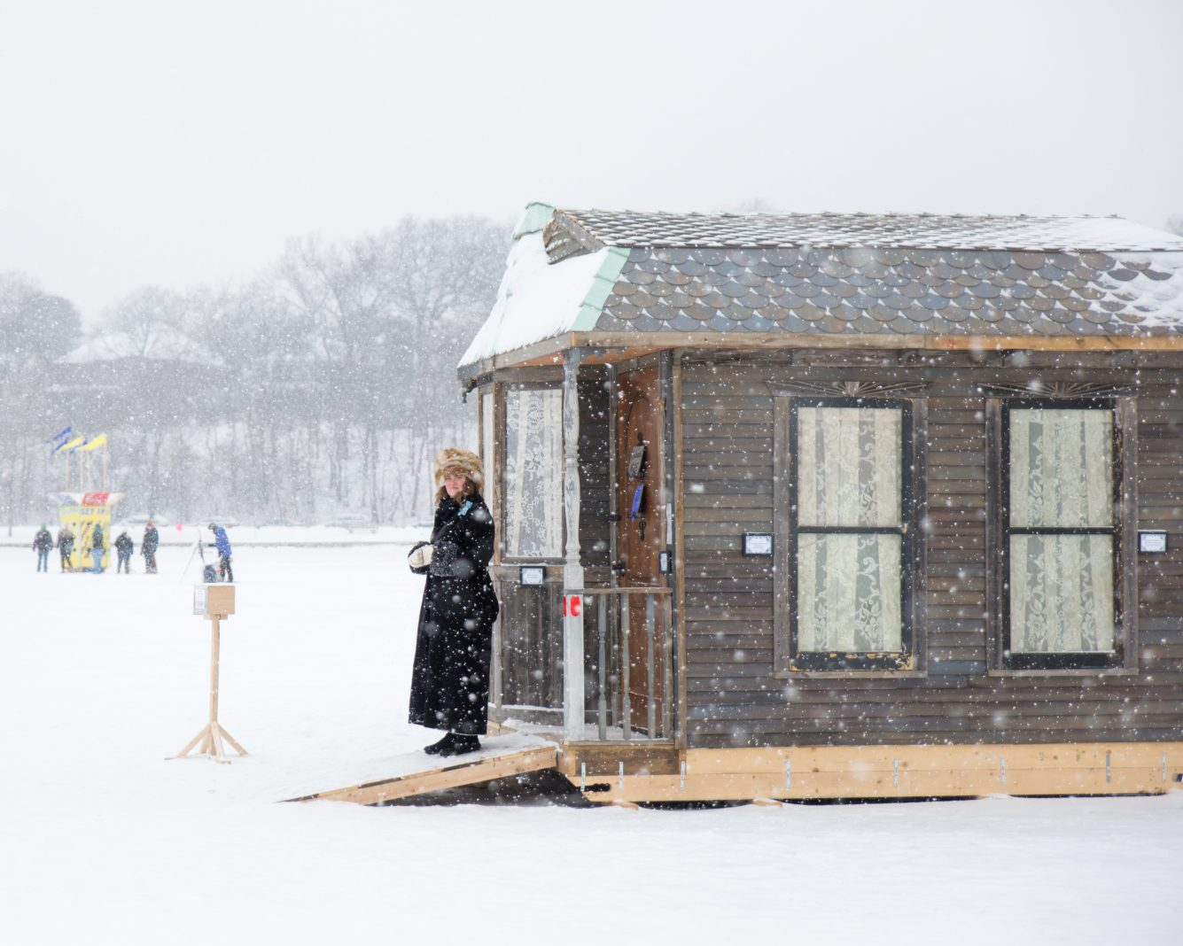 Although relatively free to do what they want, the Art Shanty Projects follow guidelines set by the Department of Natural Resources and the Minneapolis Park & Recreation Board (Seen here: a shanty from 2018)