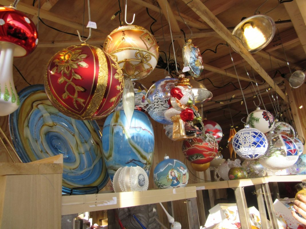 Ornaments at the European Christmas Market