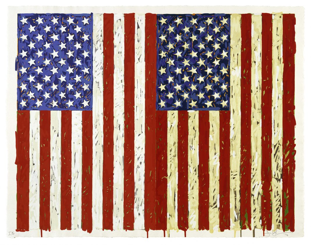 """Flags I,"" 1973, by Jasper Johns"