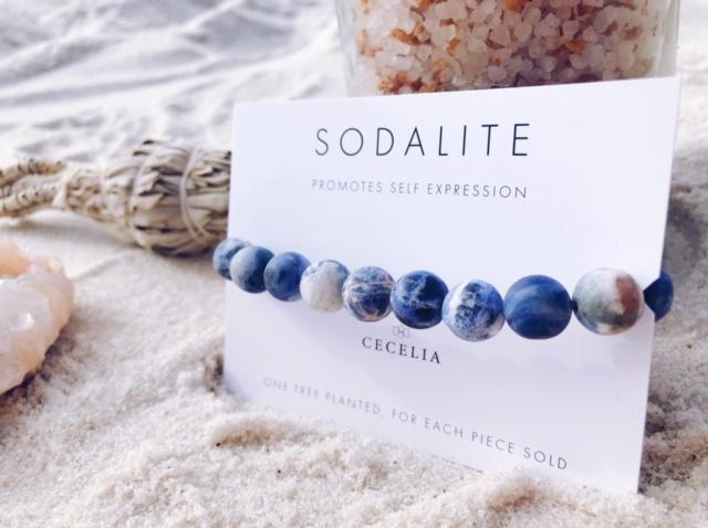 Sodalite Bracelet by Ceclia Designs