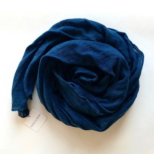 Indigo Wool Gauze Scarf, Annabella Sardelis