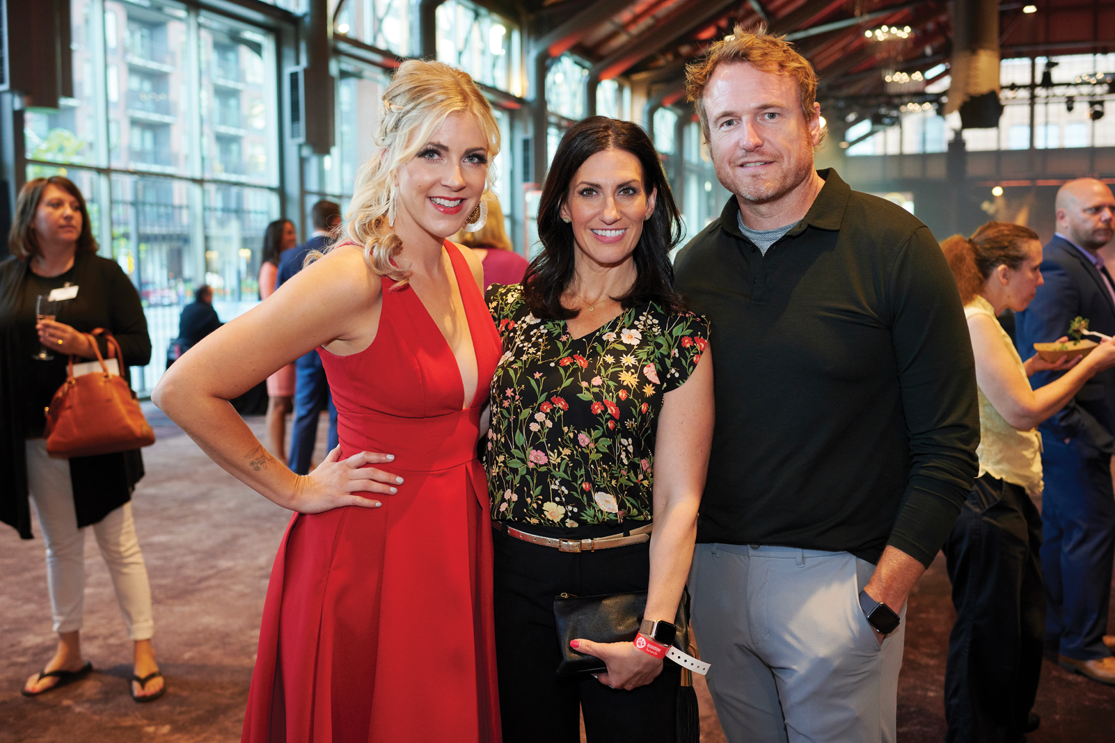 From left: Rachel Mairose, Rena Sarigianopoulos, Scott Grabick at the Bone Appetit Gala