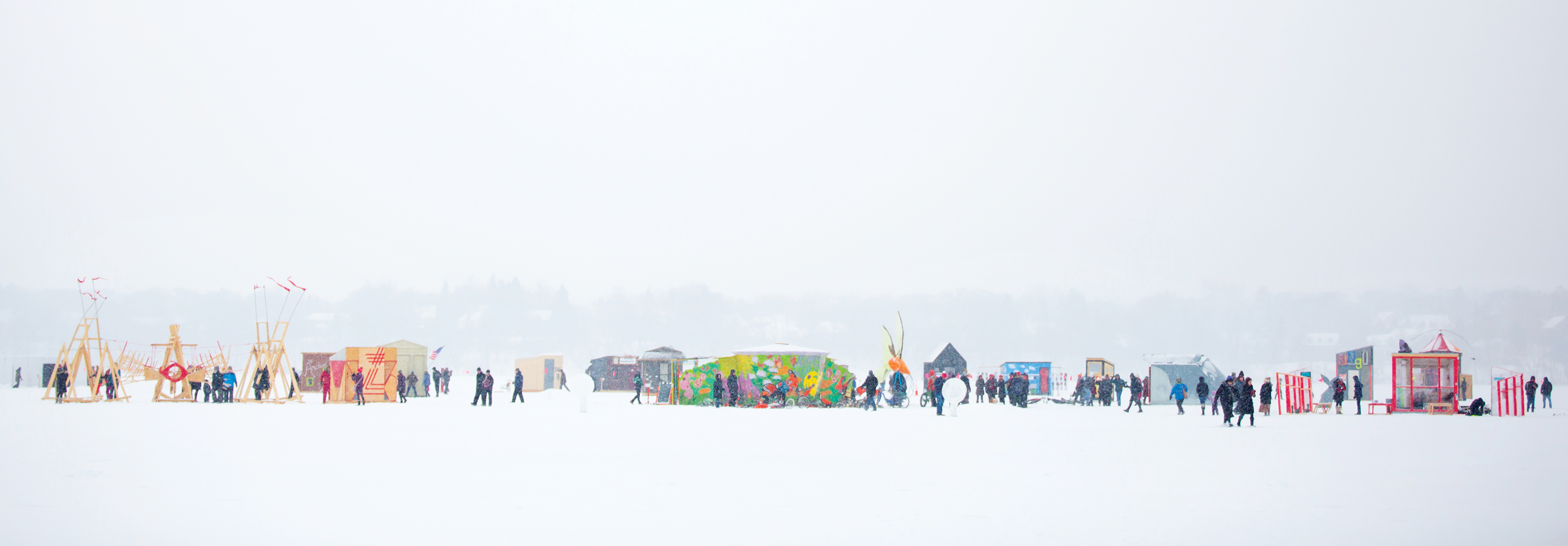 Art Shanty Projects' frozen-lake eclecticism at a glance