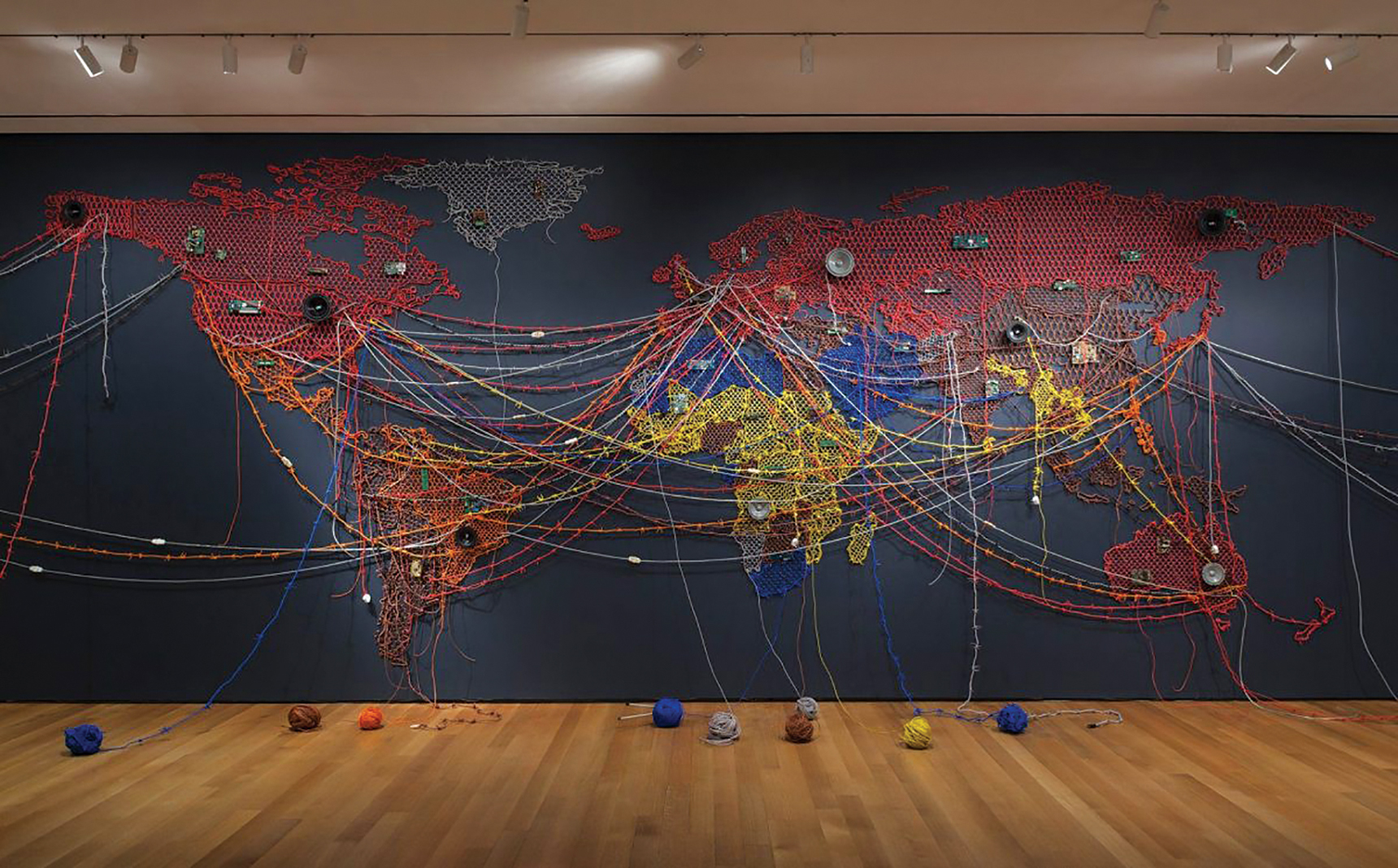 """Woven Chronicle,"" part of ""When Home Won't Let You Stay: Migration through Contemporary Art"" at the Minneapolis Institute of Art"
