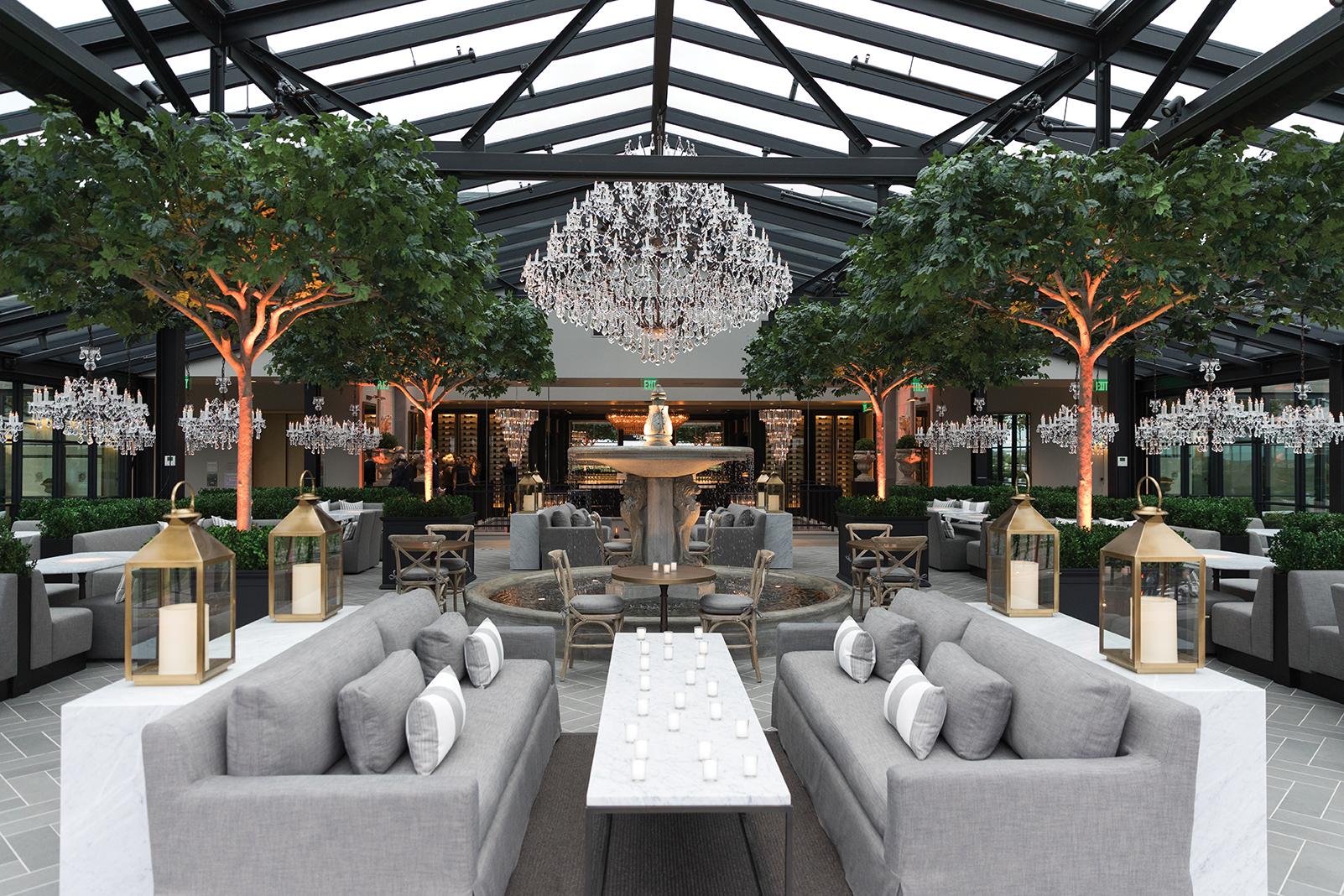 The inside of RH Rooftop Restaurant