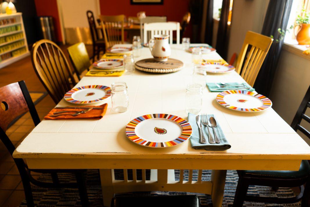 A table set at Provision