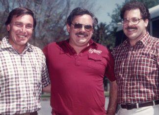 Three adult men circa 1973.