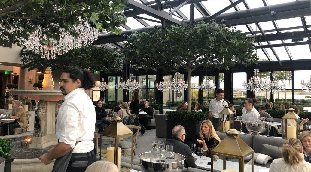 Inside RH Rooftop Restaurant in Edina