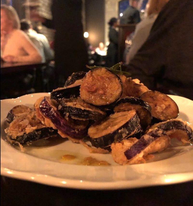 Fried Eggplant with Rosemary Honey at Snack Bar