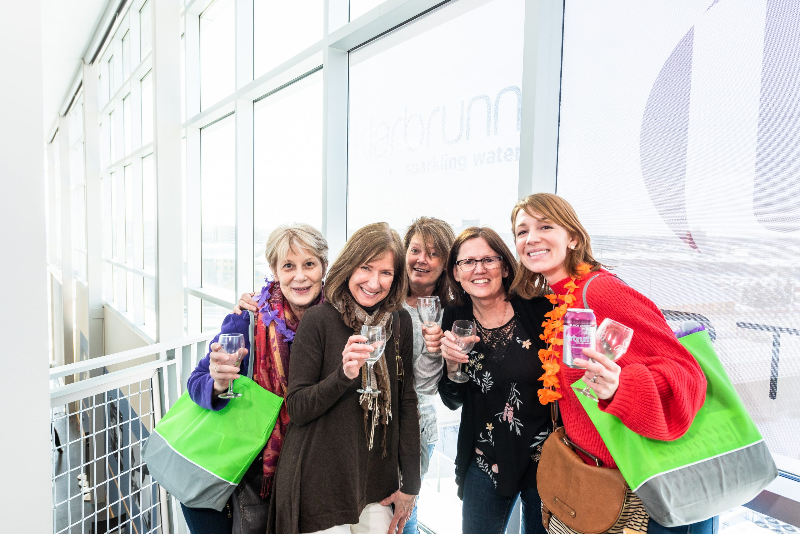 A group of female attendees at the Food & Wine Experience