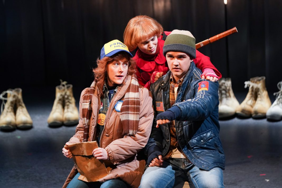 Sandra Struthers, Isabella Spiess, and Zachary Sullivan in Spamtown, USA