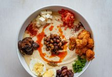 Hummus bowl at Chickpea Hummus Bar