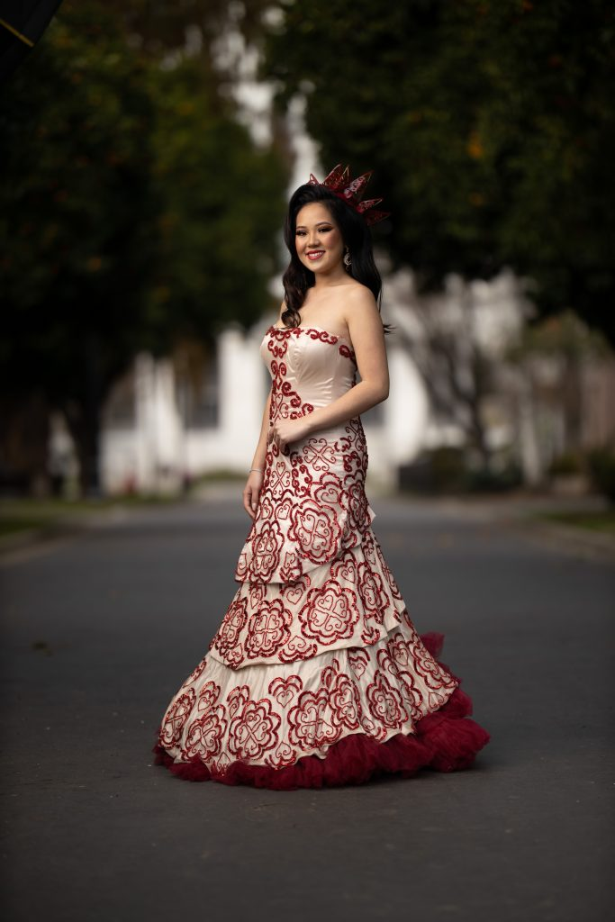 Lylena Hmong Couture, part of Lylena Yang's Red Queen line