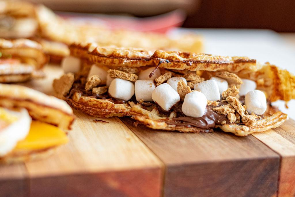 S'mores waffle at Nordic Waffles