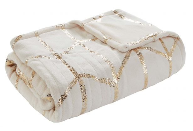 Cream-and-Gold Throw