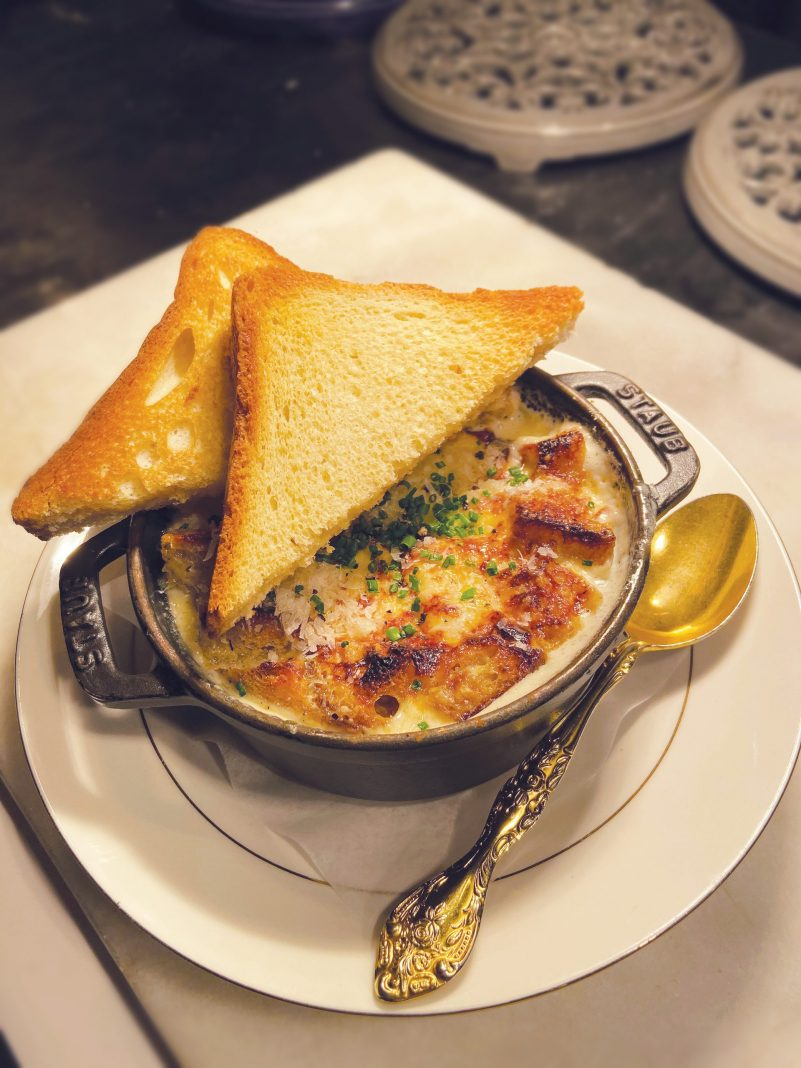 Ham and Egg Cocotte with Black Truffle Cream