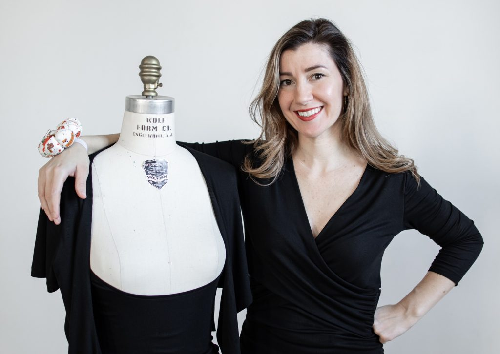 Bonnie Korte, founder of SheFeeds, wearing her Butterfly Feeder top. Photo by St. Paul Photo Co.