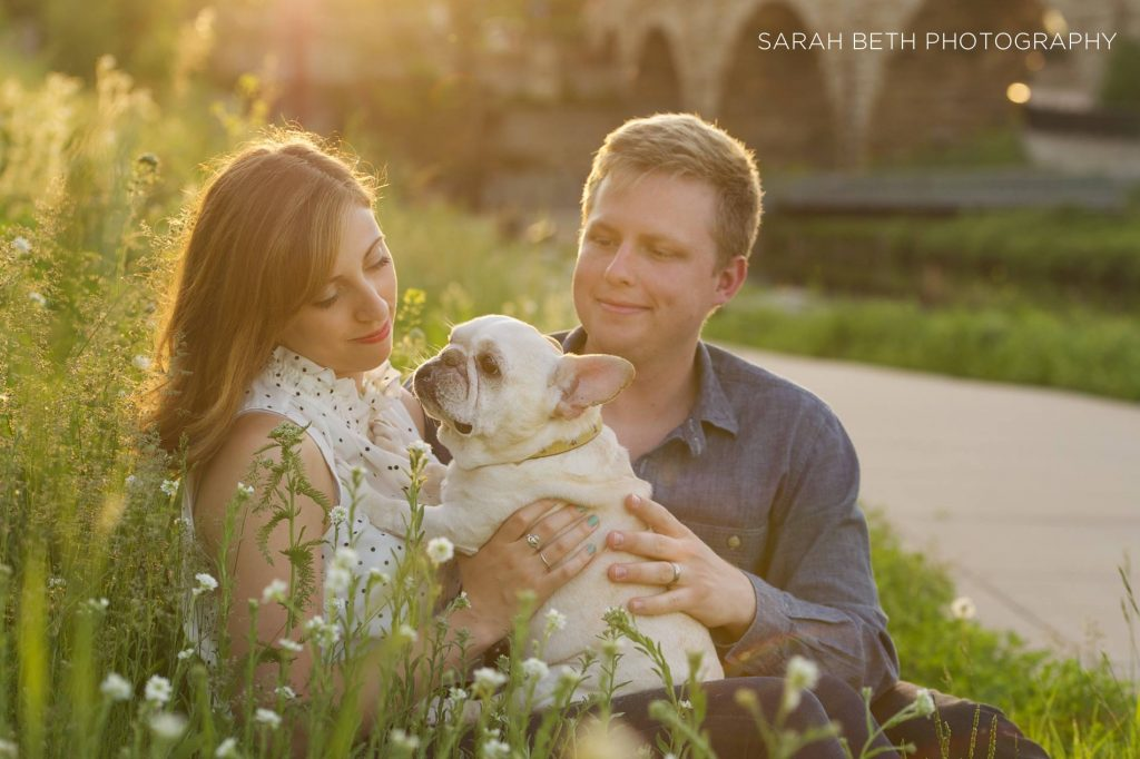 Pet photography of a family and their dog. Sarah Beth Photography.