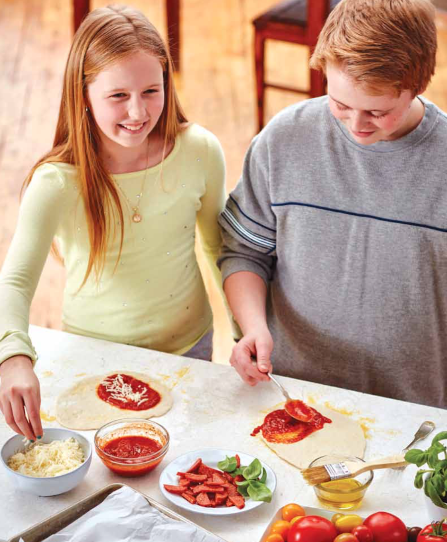 Kids from preschoolers to tweens and teens can help make Fresh Pizza Pockets