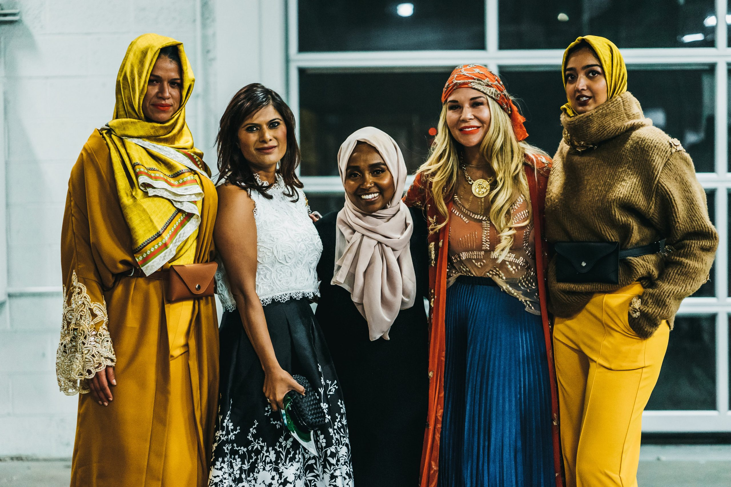 Ramadhan Mohamed at her fall 2019 Fashion Week MN show, Warm Nights in Finfine. Madeline Elli Photography
