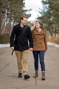 One of Sam and Emma Johnson's engagement photos