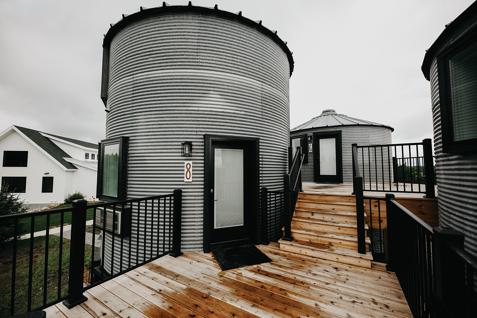 One of the converted grain bins at Gathered Oaks