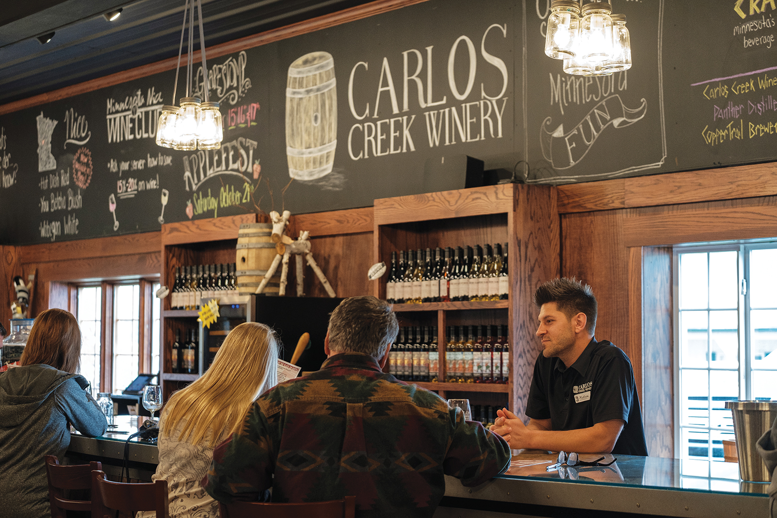 Carlos Creek Winery's tasting bar