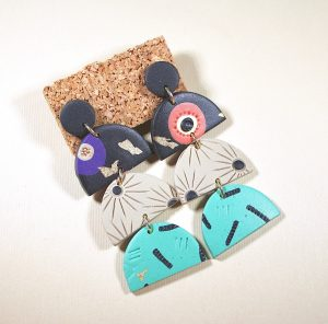 Earrings by Jac & Violet (Andrea Gharritt), who will show at the Jewelry & Accessory Makers Mart