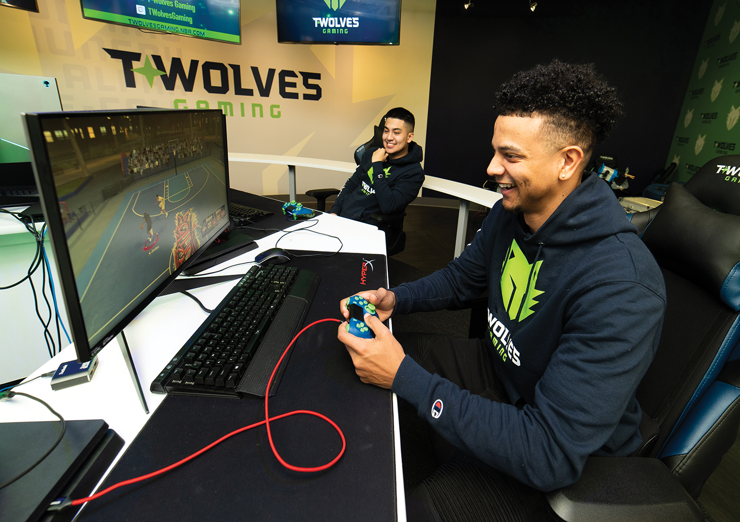 "Michael ""BearDaBeast"" Key is the point guard for the T-Wolves Gaming team"