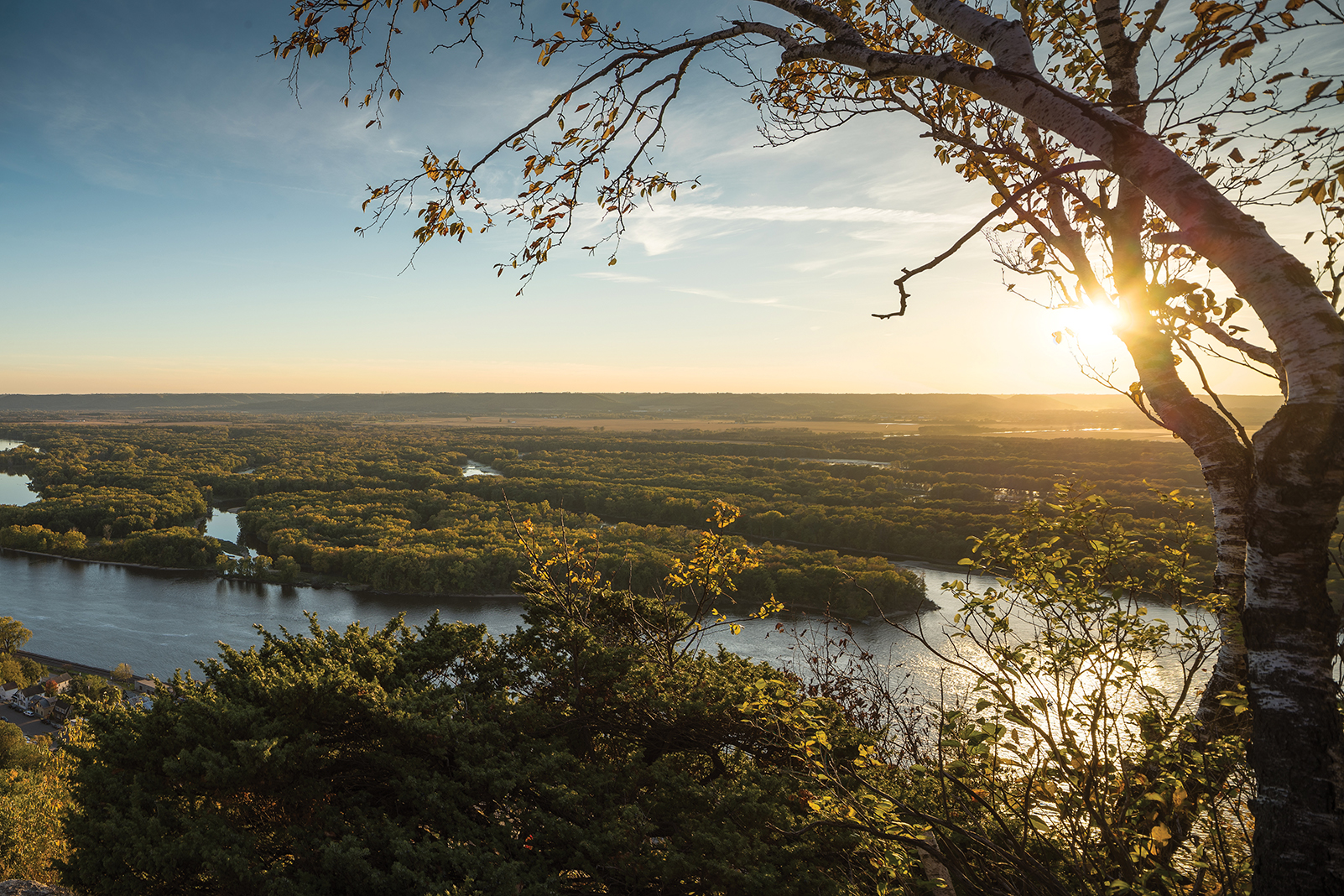 Buena Vista Park overlooking the Mississippi River