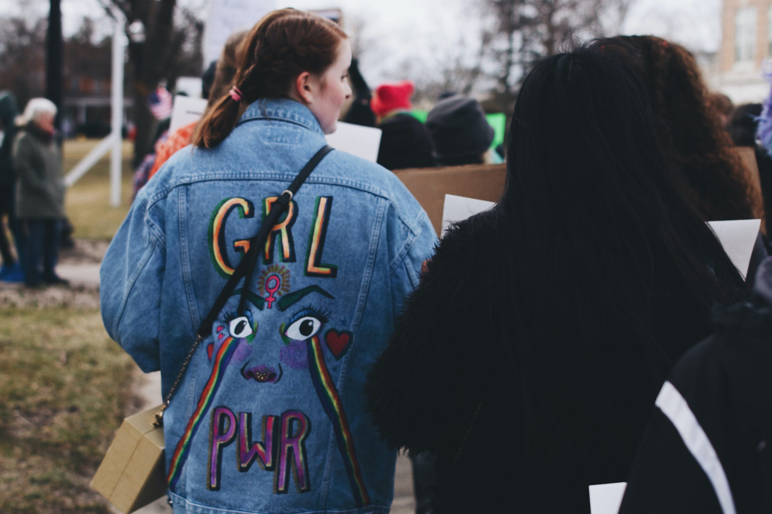 Women at a protest.