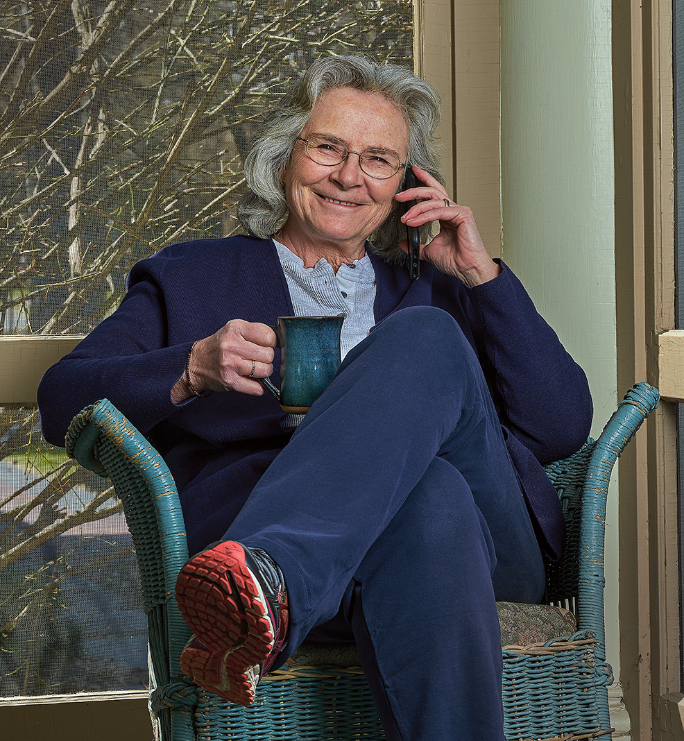 Commissioner Jan Malcolm working from her Minneapolis home