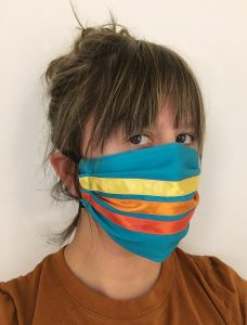 Artist Maggie Thompson of Makwa Studio is selling and donating face masks