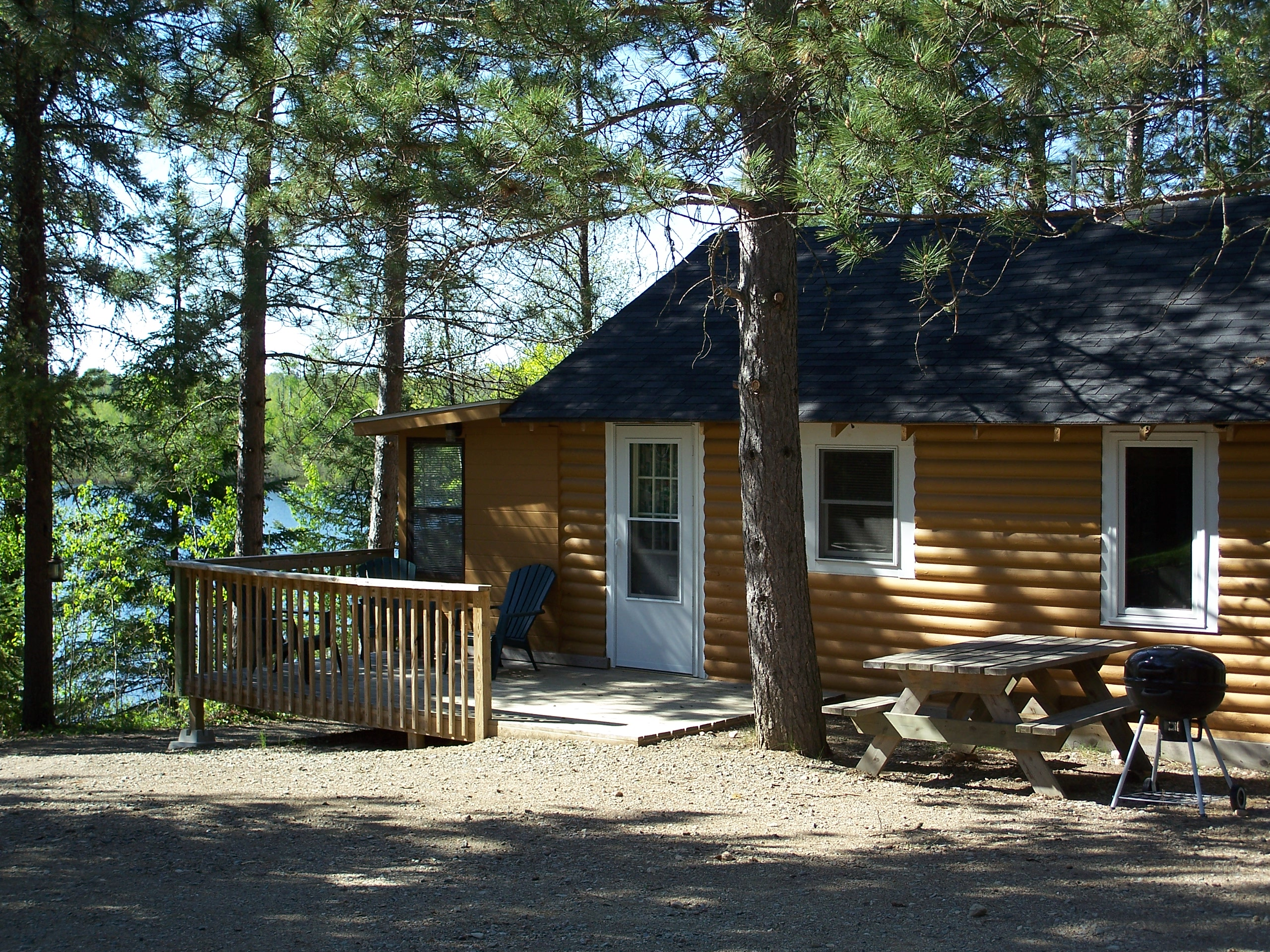 Cabin accommodations at YMCA family camp
