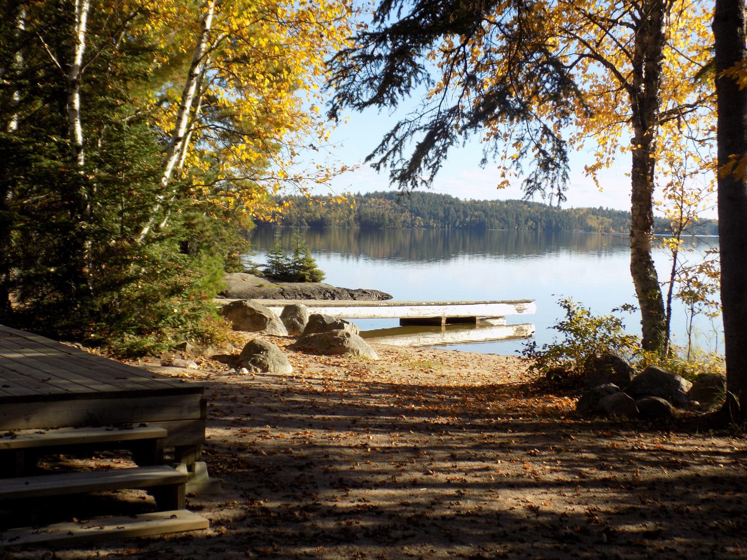 Views of the lake at YMCA family camp