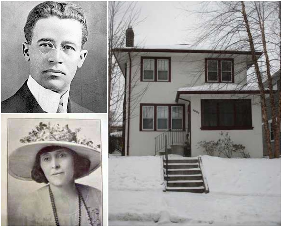 Photos of William (Billy) and Nellie Francis, plus the home they moved into in 1924.