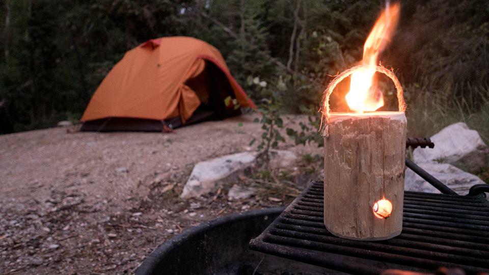 One Log Campfire