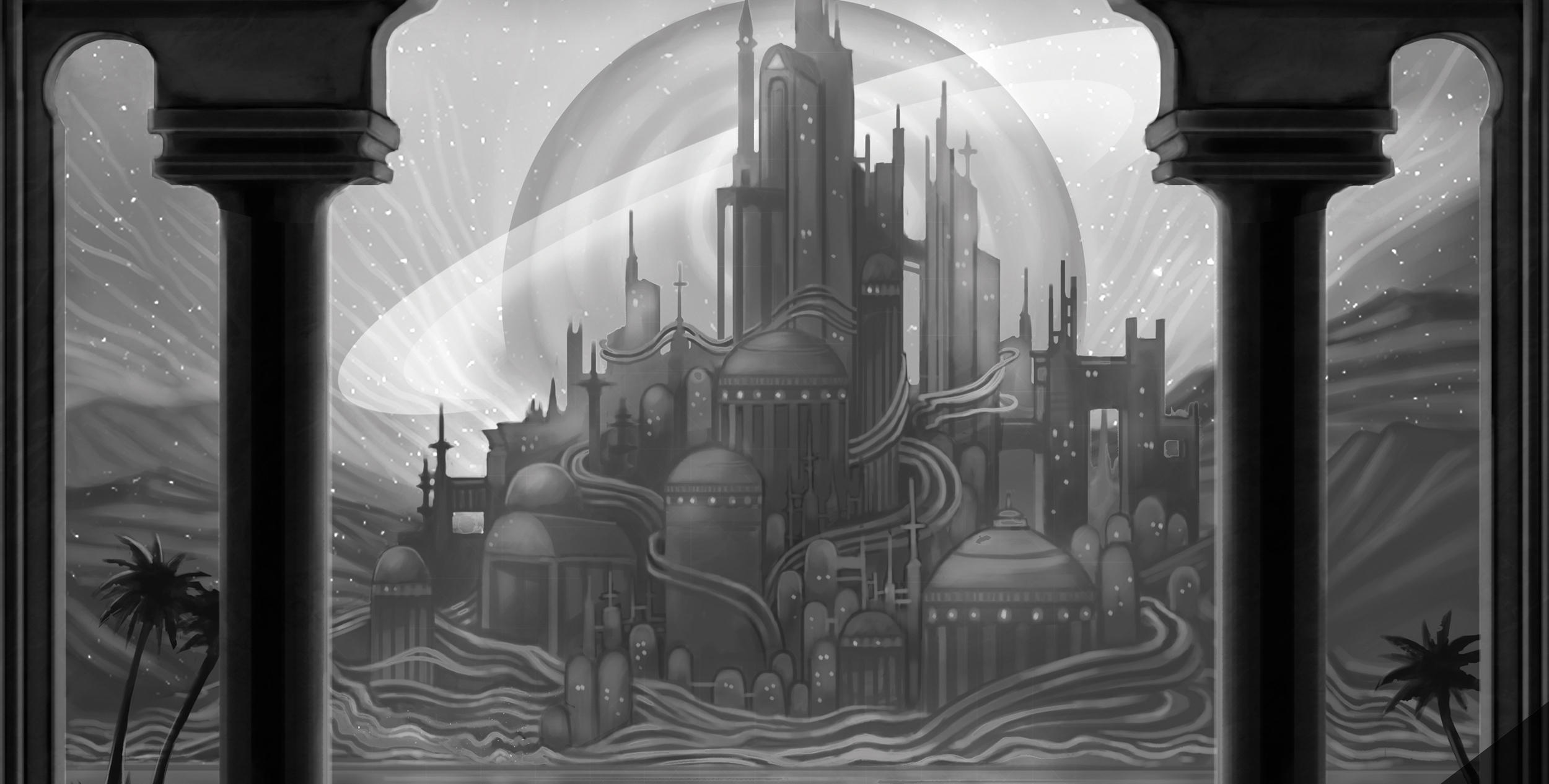 "A sneak peek at Jessica Bishop's piece in Light Grey Art Lab's ""World Roulette"""