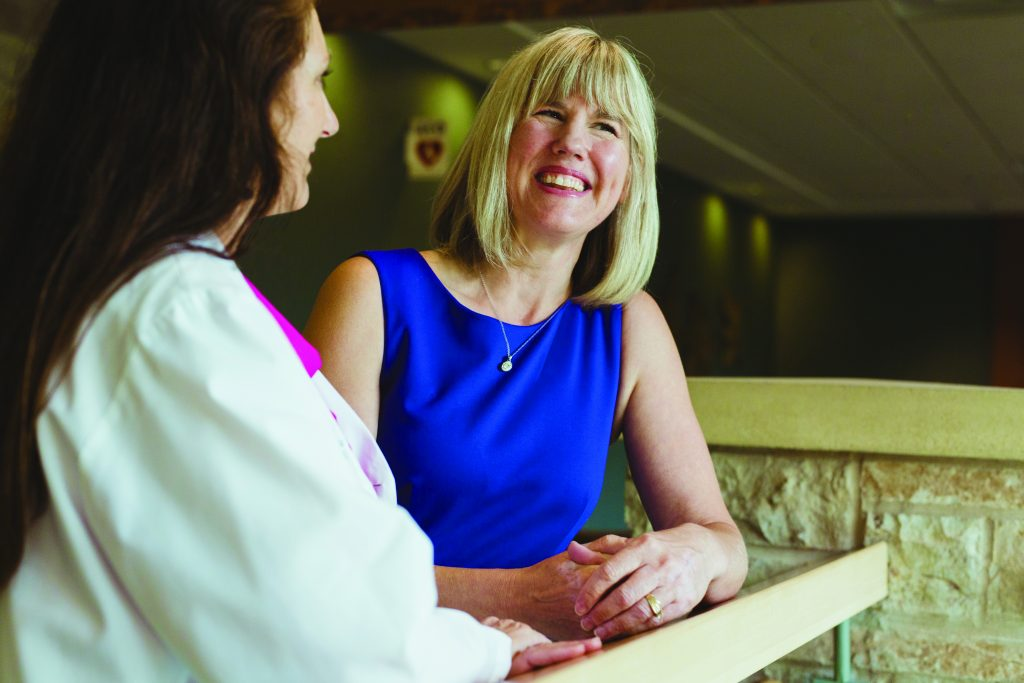 Two female doctors smiling at Oakdale Obstetrics & Gynecology