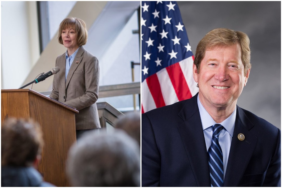 U.S. Senator Tina Smith (D) and former U.S. Representative Jason Lewis (R) are two of the candidates on the primary ballot for U.S. Senate