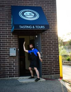 Folly Coffee introduces its new coffee tasting and tour room. Photo courtesy Folly Coffee