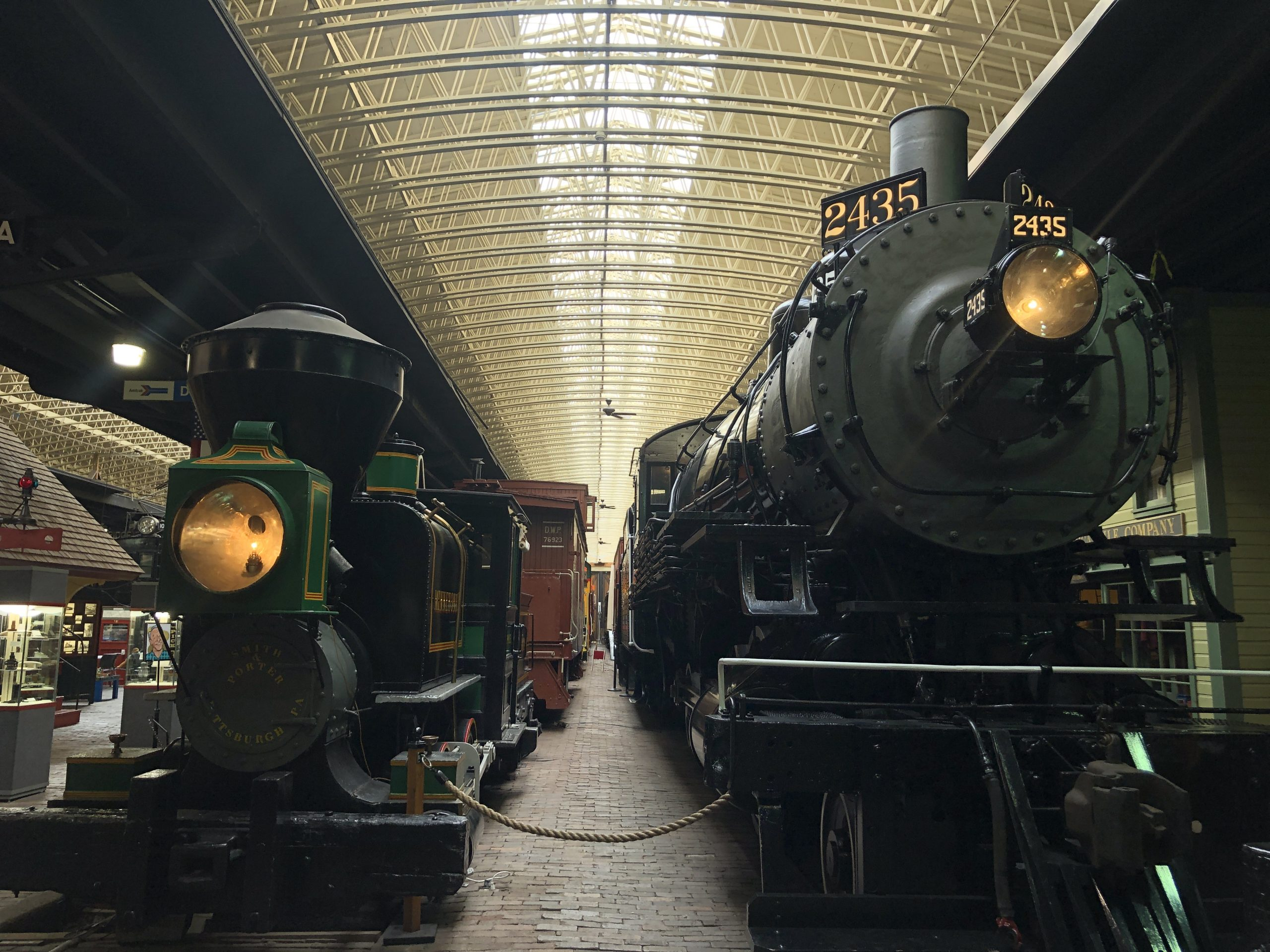 Train engines at the old Duluth Depot